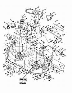 38 U0026quot  Cutting Deck  Belts  Brakes Diagram  U0026 Parts List For