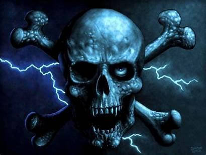 Skull Wallpapers Doodshoofd Cool Skulls Evil Screensavers