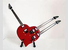 Steve Vai Triple Neck Heart Miniature Guitar Replica