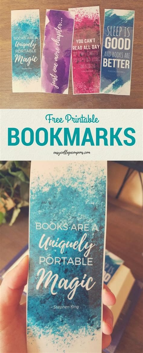 printable bookmarks  quotes  reading