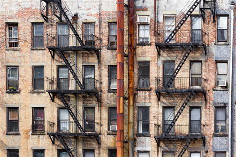 Worst Apartment In Manhattan by Apartment Buildings In New York City Stock Image