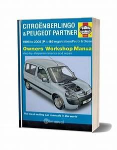 Haynes Manual Repair Citroen Berlingo Peugeot Partner 1996