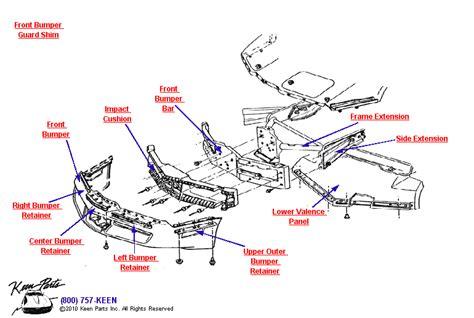 corvette front bumper parts parts accessories