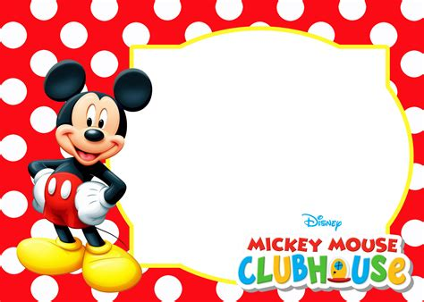 mickey mouse polka dot invitation templates