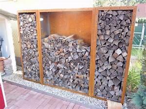 Kaminholzregal Außen Metall : kaminholzregal brennholzregal aus metall aussen corten ~ Frokenaadalensverden.com Haus und Dekorationen