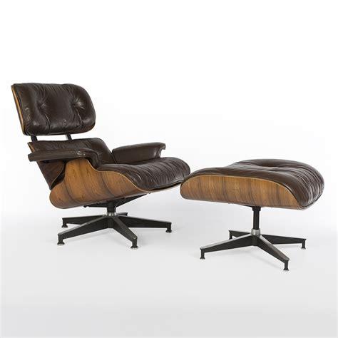 original herman miller brown leather rosewood eames lounge