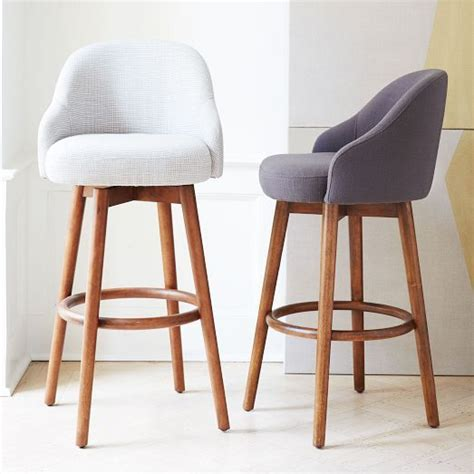 kitchen counter stools contemporary a shapely swivel seat inspired by mid century design our 6640