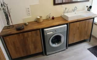 cuisine teck plan de vasque sur mesure le du bois