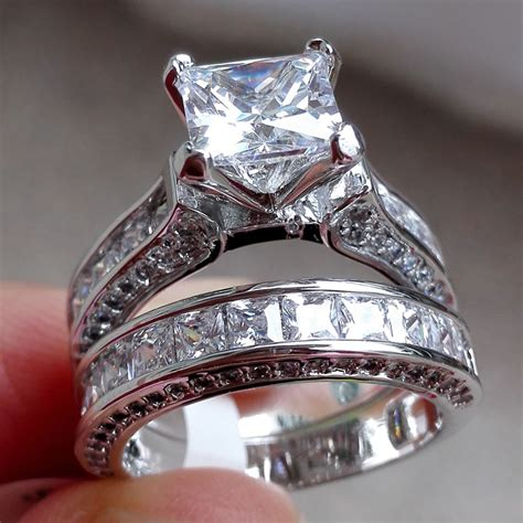 sale fashion 925 silver sapphire gem ring wedding jewelry sz6 10 ebay