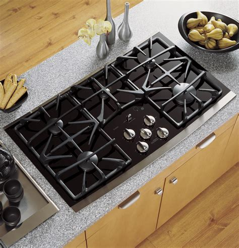 stove tops home ge profile series 36 quot built in gas cooktop jgp970sekss