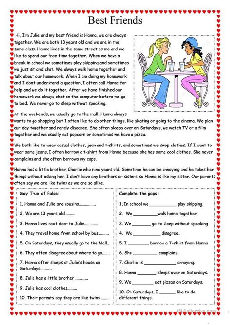 friends english esl worksheets  distance
