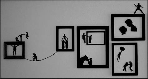 Funky Wall Art Silhouettes Motif