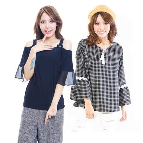 koleksi blouse stylish wanita blouse chiffon katun