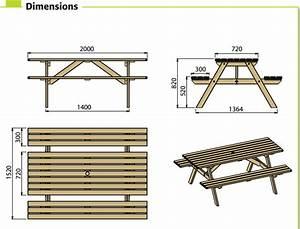 c2a5f07048c Table De Picnic Bois. table pique nique enfant en bois 90 x 95 x h ...
