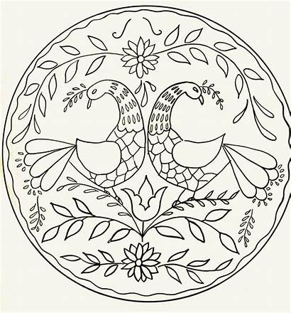 Dutch Pennsylvania Designs Hex Coloring Pages Folk