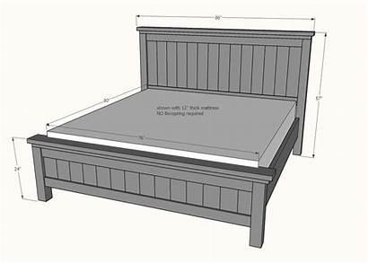 King Bed Farmhouse Plans Standard Beds Frame