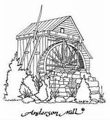 Watermill Coloring Mill Designlooter Volente Anderson Sketch Tx Template sketch template