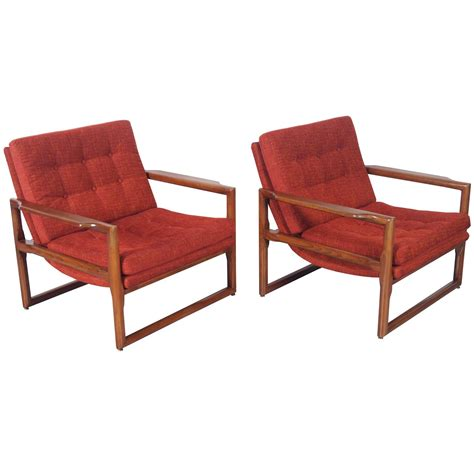 vintage quot cube quot lounge chairs by milo baughman for sale at