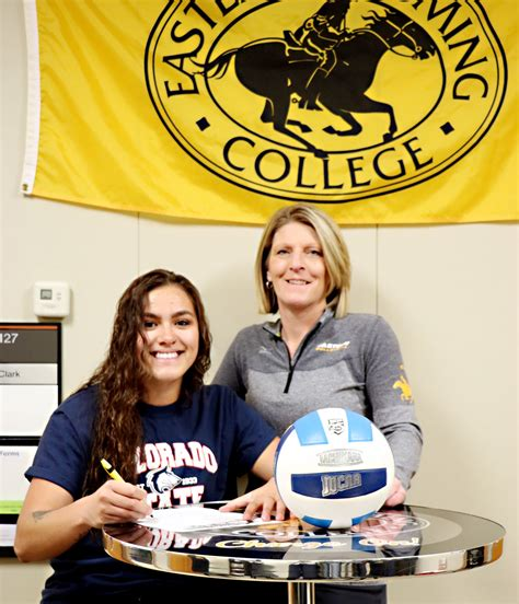 lefforge signs continue volleyball career eastern wyoming college