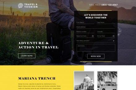 tourism landing page templates buy travel and tourism landing pages online