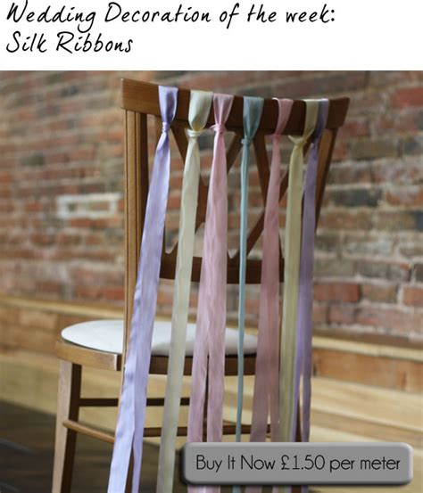 Ribbons For Wedding Chairs The Wedding Of My Dreamsthe