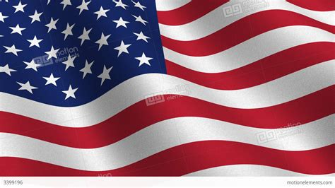 Usa Flag Waving In The Wind Seamless Loop Stock Animation