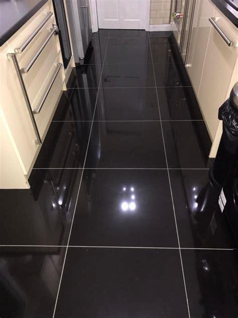 black gloss kitchen floor tiles black gloss floor tiles 600 215 600 tiles flooring 7874