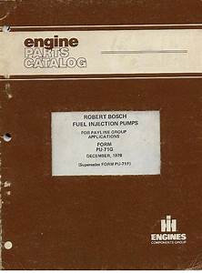International Robert Bosch Fuel Injection Pumps Parts Manual