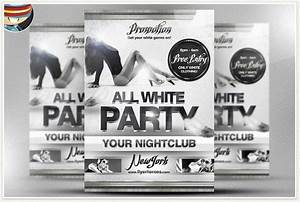 Pics For > All White Birthday Party Flyer