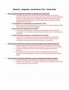 Chapter 4 Chapter Review Worksheet Elements Compounds And