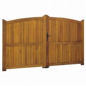 Portail En Bois : portail battant bois fontanges quincaillerie fixe ext rieur ~ Premium-room.com Idées de Décoration