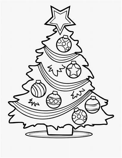 Christmas Tree Coloring Printable Clipart Xmas Cartoon