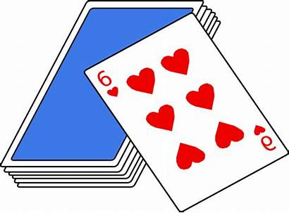 Cards Clip Clipart Playing Svg Clker