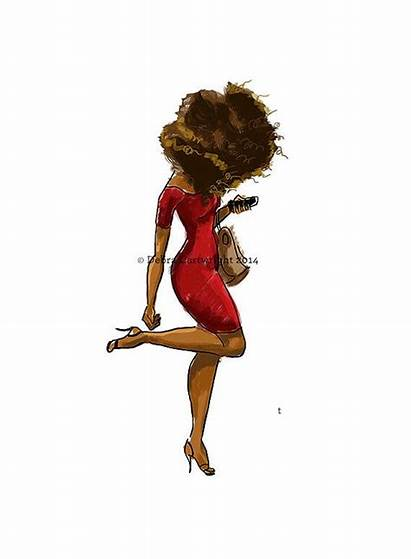 American Debra Afro Cartwright African Hair Natural