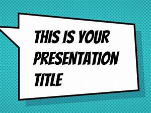 Free presentation template comicbook style for Comic book template powerpoint