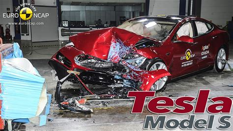 Tesla Model S Crash by Tesla Model S Crash Test Ncap 2014