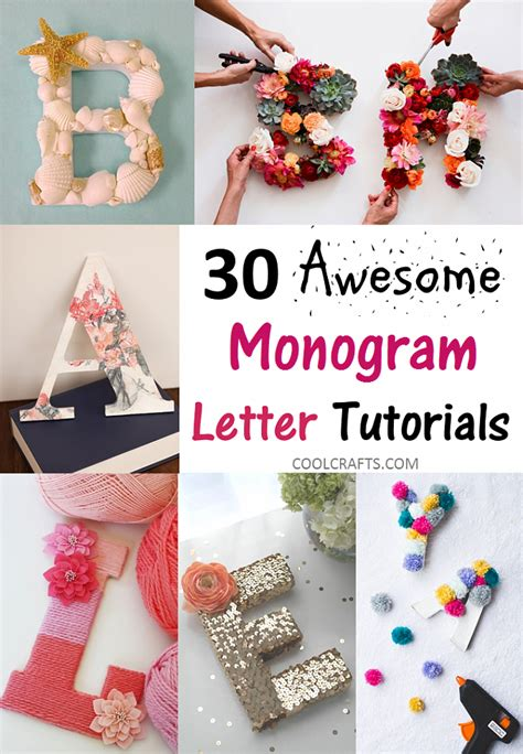 gift ideas   create  monogram letters diy monogram letters letter  crafts diy