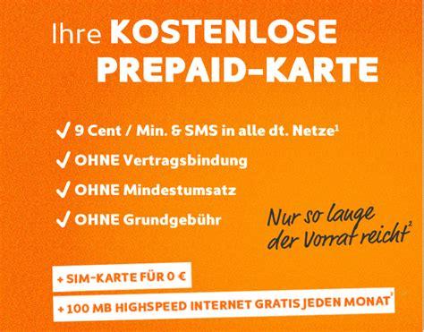 simyo kostenlose prepaid sim karte mit gratis internet