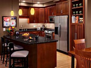 cherry kitchen cabinets with granite countertops cherry With kitchen colors with white cabinets with montreal canadiens wall art