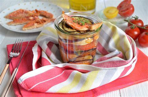 cuisine rouget millefeuilles tomates aubergines et rouget