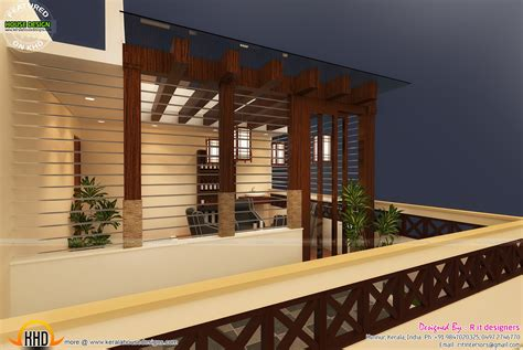 Terrace gazebo designs in India - Kerala home design and