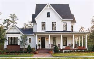 new farmhouse plans white house black window trim white white trim black
