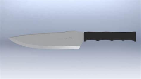 tactical kitchen knives tactical kitchen chefs knife free 3d model stl cgtrader com
