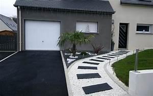 amenagement exterieur entree dune villa a amenagement With idee amenagement entree exterieure