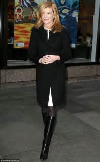 rene russo boots thomas crown rene russo 60 shows off her slender legs in black skinny