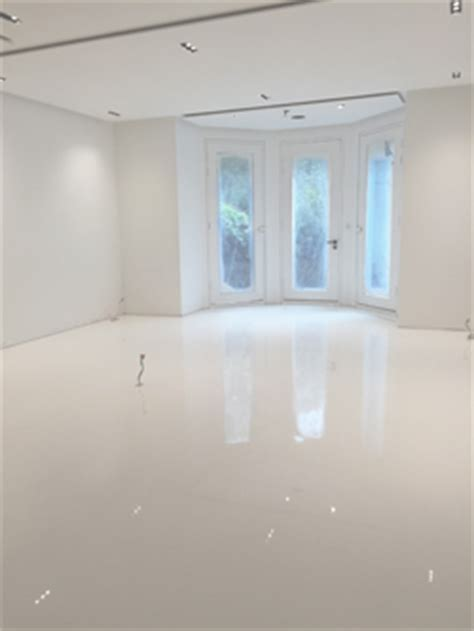 CASE STUDY: White Gloss Resin Floor Finish : Arcon Supplies