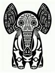 Elephant Sugar Skull Coloring Pages