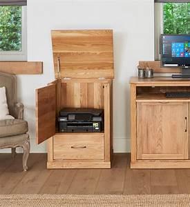 Mobel Solid Oak Printer Cupboard COR07C