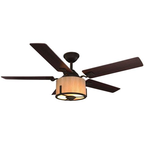 home decorators collection ceiling fan home decorators collection freyton 52 in led rubbed