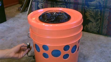 homemade evap air cooler   gallon bucket swamp